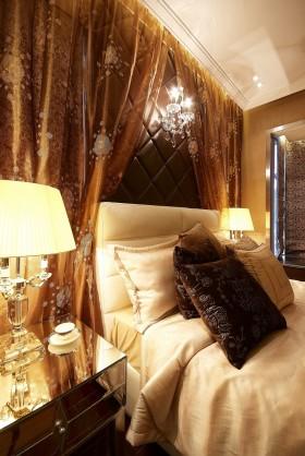 欧式现代卧室床头软包装修图片