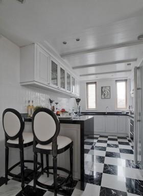 欧式风格厨房欧式风格厨房黑白格子瓷砖装修效果图