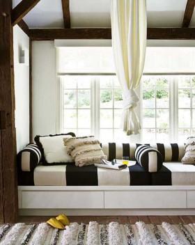 最新客厅飘窗装修效果图大全
