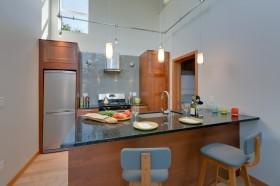 美式开放式厨房吧台图片