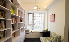 现代书房飘窗设计效果图
