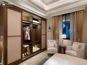 现代简约卧室衣柜移门图片