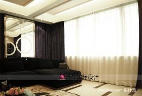 现代客厅窗帘效果图欣赏
