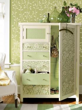 田园风格卧室储物柜图片