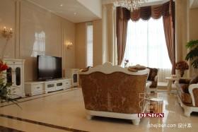 奢华欧式客厅窗帘装修效果图欣赏