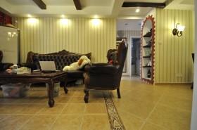 田园风格客厅瓷砖装饰图