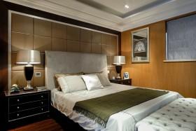 现代复式楼卧室床头软包装修案例