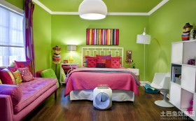 儿童房颜色设计效果图