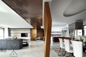 现代风格客厅餐厅隔断装修效果图