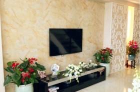 田园客厅壁纸电视背景墙装修效果图