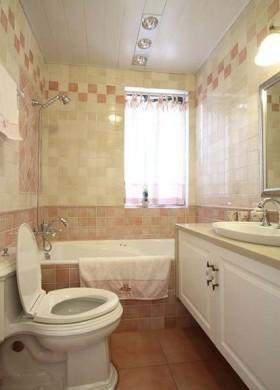 户型欧式风格欧式小卫生间墙砖贴图