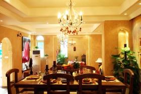 东南亚风格客厅吊灯效果图