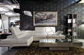 现代风格客厅沙发挂画背景墙图片