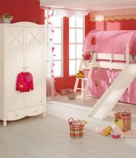 粉色儿童房间卧室布置