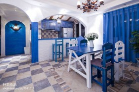 地中海风格家居厨房餐厅隔断效果图
