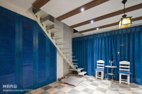 地中海风格复式楼梯装修效果图