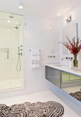 现代家装卫生间设计效果图