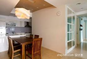 三室一厅厨房餐厅装修效果图