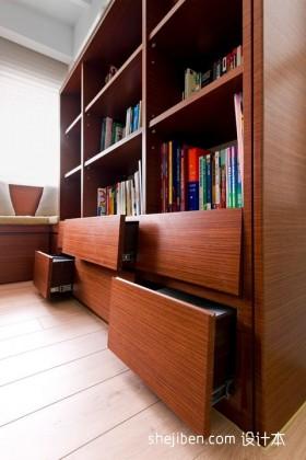 现代整体书房书柜装修效果图大全2013图片