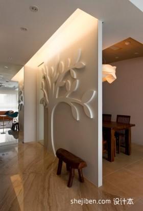 三室一厅餐厅隔断墙装修效果图