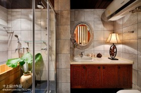 中式卫生间淋浴房装修效果图