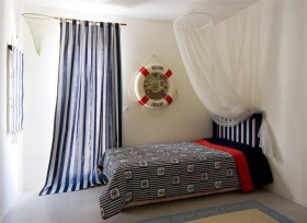 地中海儿童卧室窗帘效果图