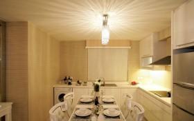 110平小三居开放式厨房餐厅装修效果图