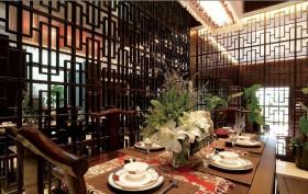 中式家装餐厅隔断效果图