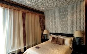 中式小卧室窗帘效果图