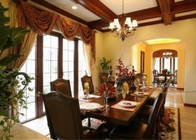 美式风格家庭餐厅吊顶效果图