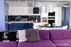现代公寓客餐厅装修效果图