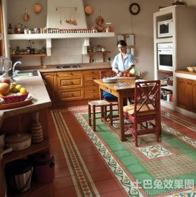 东南亚风格开放式厨房装修效果图大全