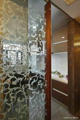 厨房玻璃门隔断装饰效果图