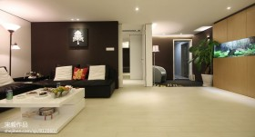现代客厅沙发背景墙装修设计效果图