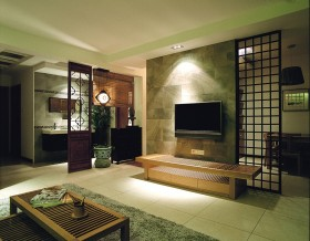 中式电视背景墙效果图