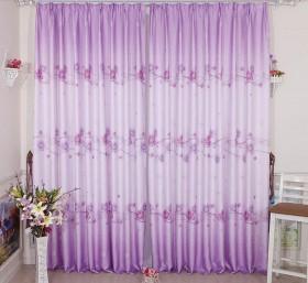 紫色窗帘效果图 客厅窗帘效果图
