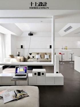 现代客厅隔断设计效果图