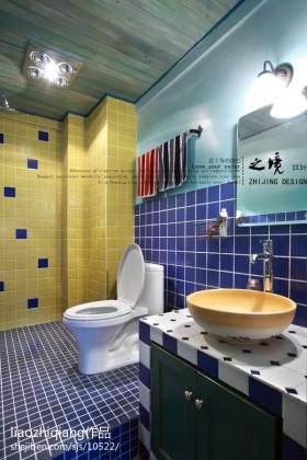 地中海卫生间瓷砖效果图片