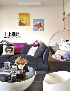 简约客厅沙发装修设计图