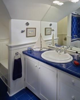 地中海卫生间浴室柜图片