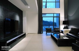 现代风格电视背景墙效果图