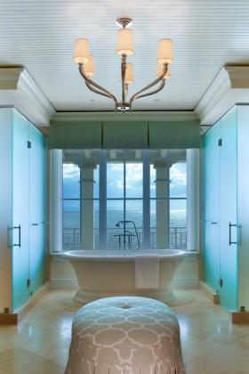 欧式简约卫生间浴缸效果图