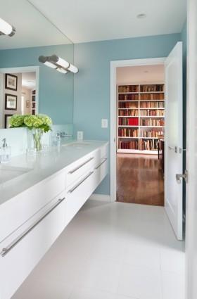 现代卫生间浴室柜效果图片