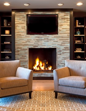 电视瓷砖背景墙设计效果图片