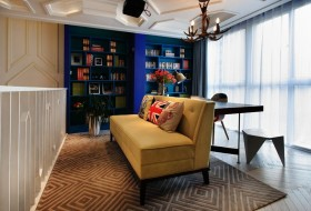 复式家居书房书架装修效果图