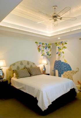 卧室手绘背景墙效果图