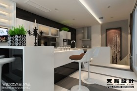 别墅厨房吧台装修设计图