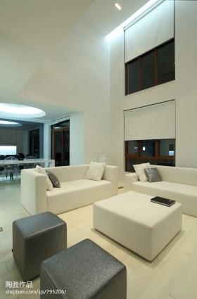 现代简约风格家装客厅装修设计图