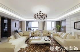 90平米现代简约客厅装修效果图欣赏