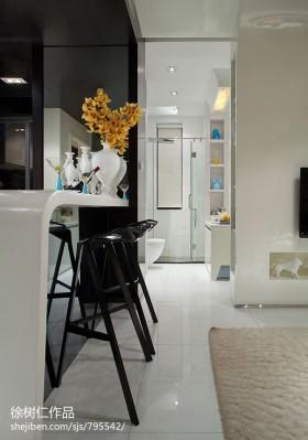 单身公寓客厅吧台装修效果图